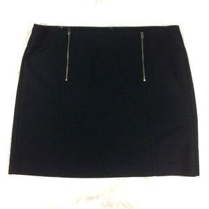 Ann Taylor LOFT Outlet Black Skirt Zippers